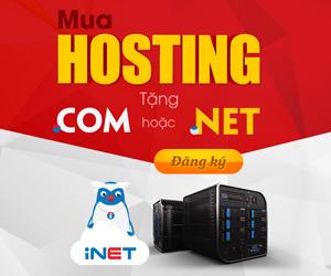 mua hosting inet tặng tên miền quốc tế
